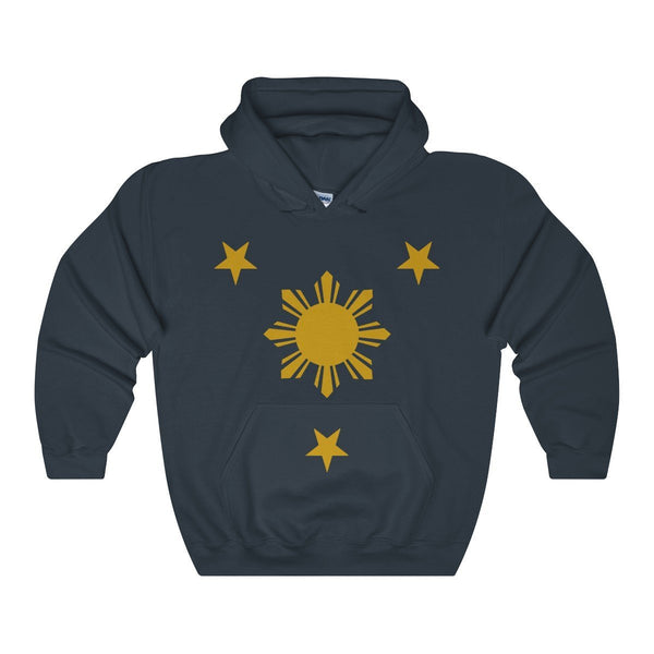 Three Stars & Sun - Unisex Hoodie 7 Colors Available Navy / S