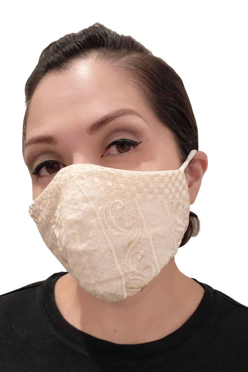 Barong Warehouse - Barong Embroidery Face Mask - Beige