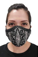 Barong Warehouse - Barong Embroidery Face Mask - Black