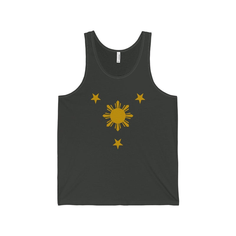 Three Stars & Sun - Unisex Jersey Tank 7 Colors Available Dark Grey / Xs Top