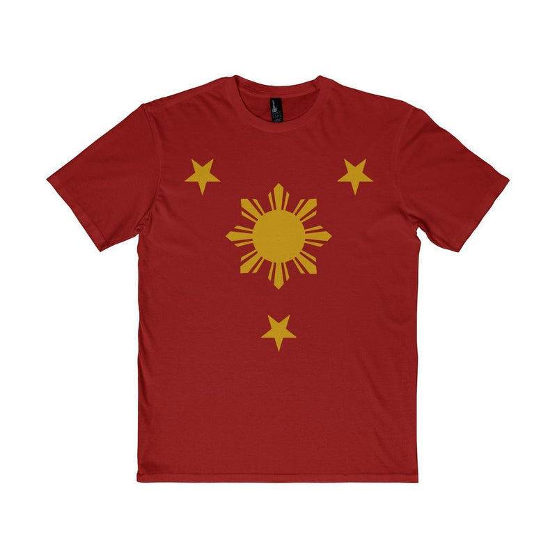 Three Stars & Sun - Unisex District T-Shirt 7 Colors Available Classic Red / Xs