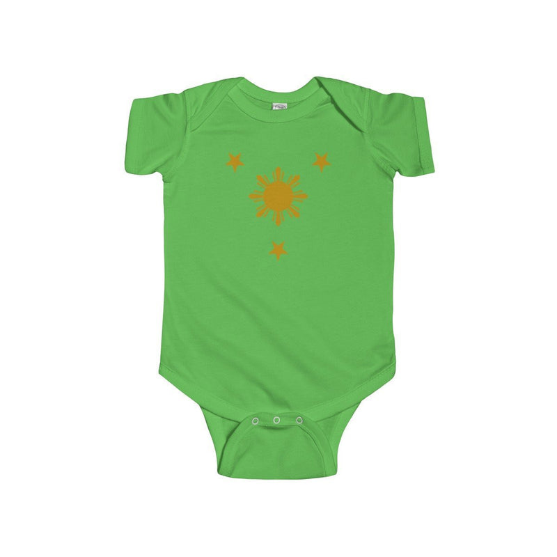 Three Stars & Sun - Infant Onesie 9 Colors Available 12M / Apple Kids Clothes