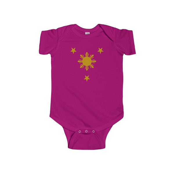 Three Stars & Sun - Infant Onesie 9 Colors Available 12M / Fuchsia Kids Clothes