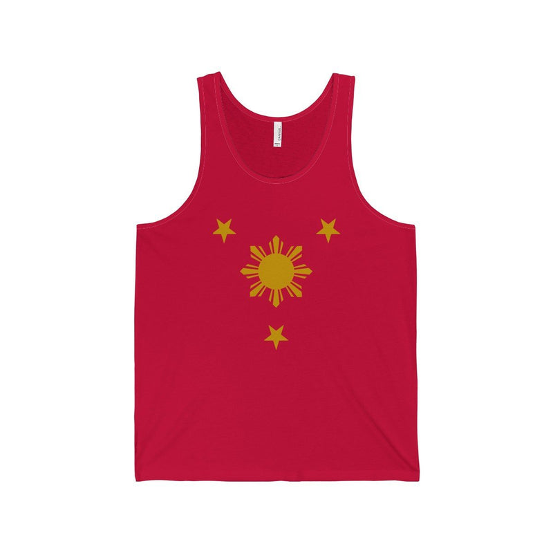 Three Stars & Sun - Unisex Jersey Tank 7 Colors Available Red / Xs Top