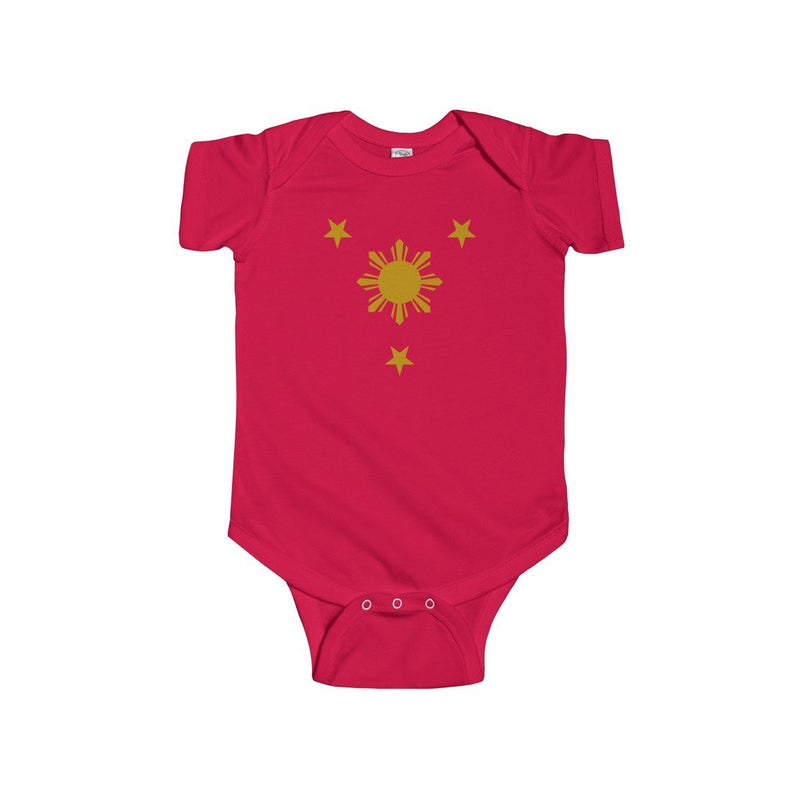 Three Stars & Sun - Infant Onesie 9 Colors Available 12M / Red Kids Clothes