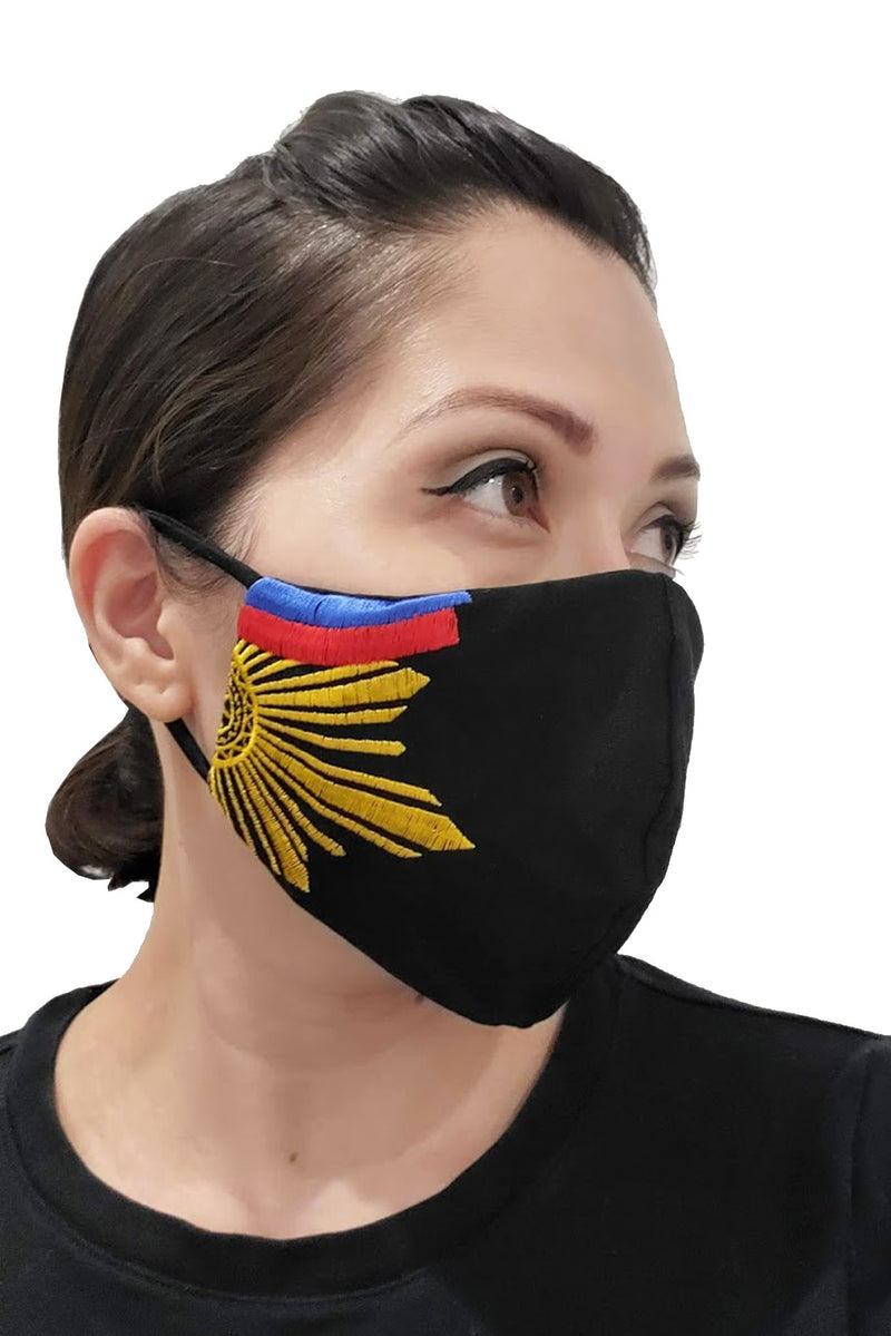 Barong Warehouse - Filipino Flag Face Mask Black