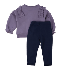 "Load image into Gallery viewer, Girls Sweater & Jogger Set ""Big Things Have Small Beginnings"" Organic Cotton 