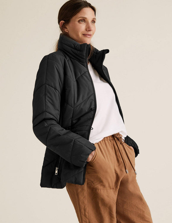 M&S Ladies F/S Puffer Jacket T49/4157