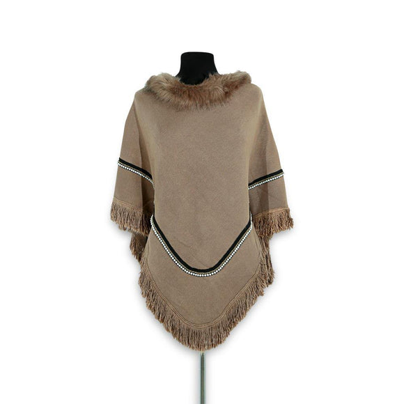 Imported Ladies Fur Poncho # 14
