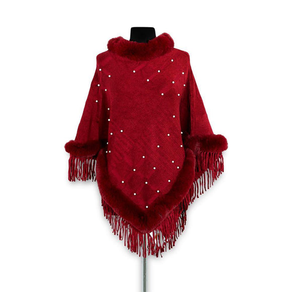 Imported Ladies Fur Poncho # 15