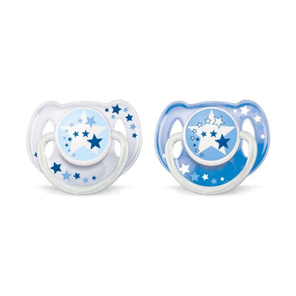 AP Baby Night Time Soother 6-18m Pk 2 SCF176/22 (ID 34) (A+)