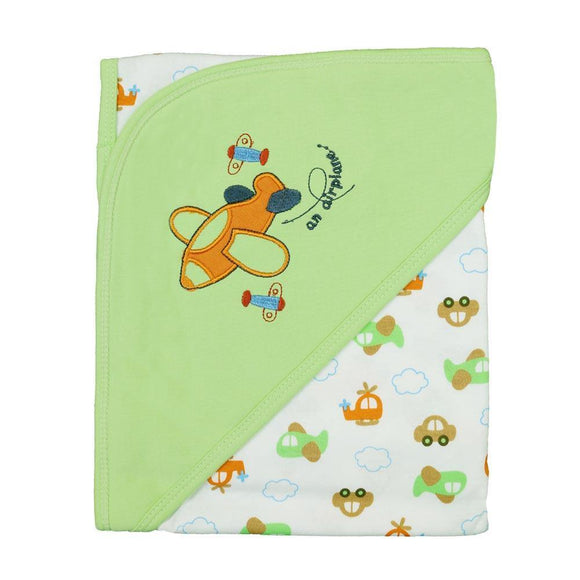 Imported Baby Cotton Wrapping Sheet W/Hood (I.T) (A)