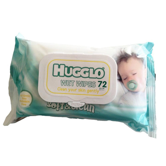 Hugglo Baby Soft & Clean Wet Wipes 72Pcs - enemmall.com