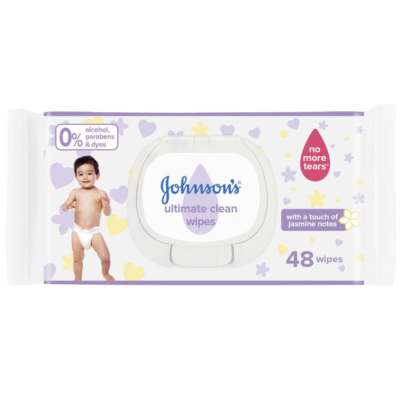 Johnsons Baby Wipes 48pcs With Cover - enemmall.com