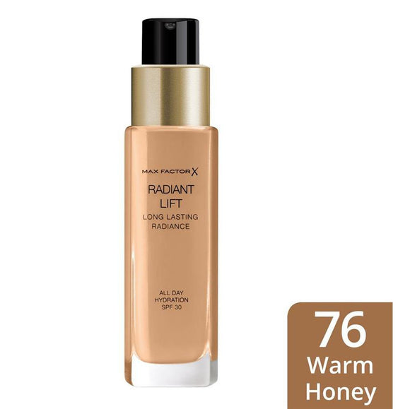 Max Factor Long Lasting Radiance FounndationWRM HON 30ML 6570 - enemmall.com