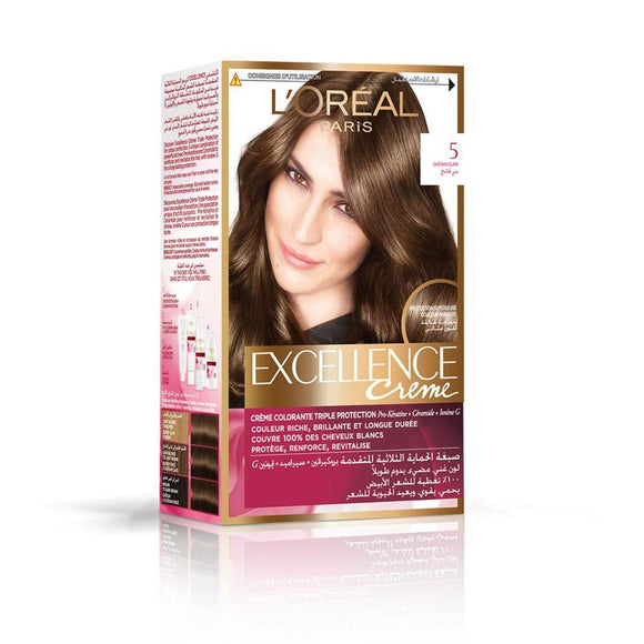 Loreal HairColor Excellence Creme No. 5 (Light Brown) - enemmall.com