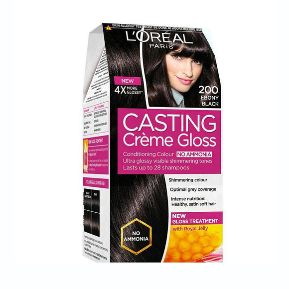 Loreal HairColor Casting Creme Gloss No. 200 ( Ebony Black) - enemmall.com