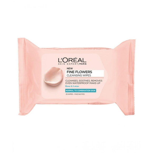 Loreal Paris Rare Flowers Cleansing Wipes - enemmall.com