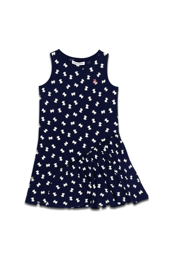 Bow Aop Dress-CG1039(TDG) - enemmall.com