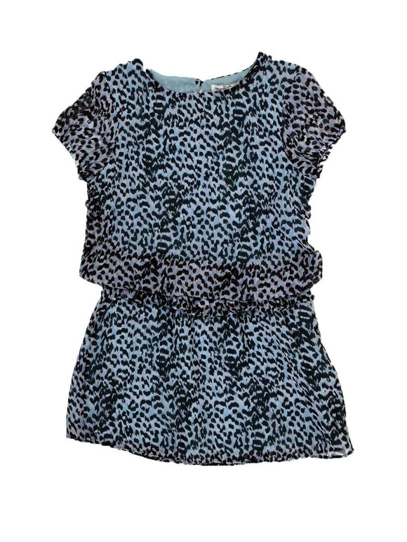 Girls Cap Sleeves Leopard Print Tunic CG1610 - enemmall.com