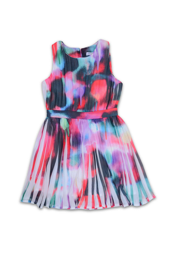 FC Girls Sleeve Less Miami Graffiti Frock CG1723 - enemmall.com