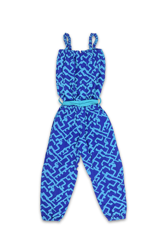 FC Girls Sleeve Less Down Town Grid Jump Suit CG1736 - enemmall.com