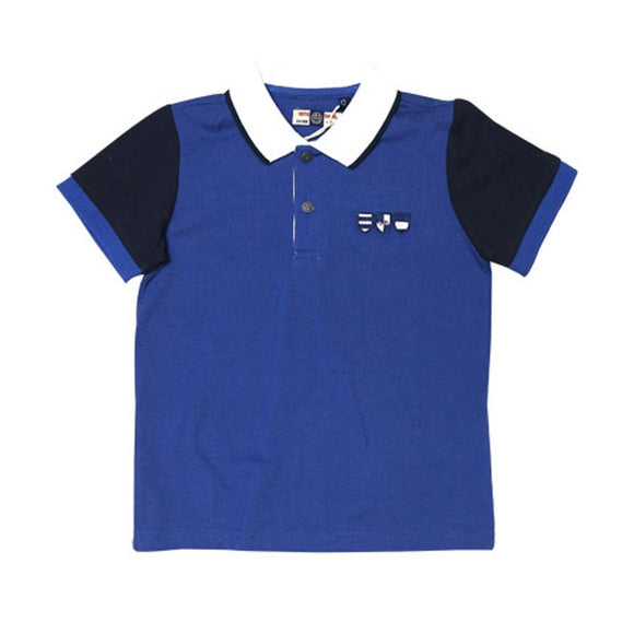 NE&BI Boys S/S Polo With Contrast Sleeves & Eden Park EMB @ Back NB001 (S-16) - enemmall.com