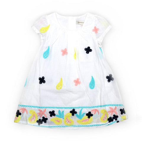 Imported Girls C/S Cotton Frock With Contrast EMB 8031356 (S-16) - enemmall.com