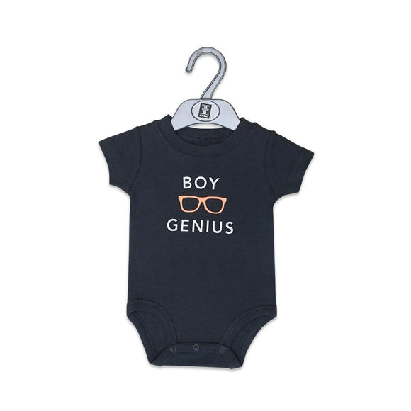 Carters Boys S/S Body Suit With Boy Genius 18 (S-16) - enemmall.com