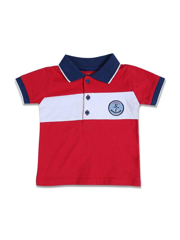 Imp Boys H/S Polo T-Shirt With Front 3-Buttons #2 (S-18) - enemmall.com