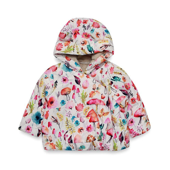 Next Girls L/S Jacket With Hood & Flower Print # Z6 (W18) - enemmall.com