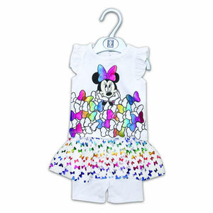 Disney Girls Knicker Suit S/L With Front Minnie Print  (S-19) - enemmall.com
