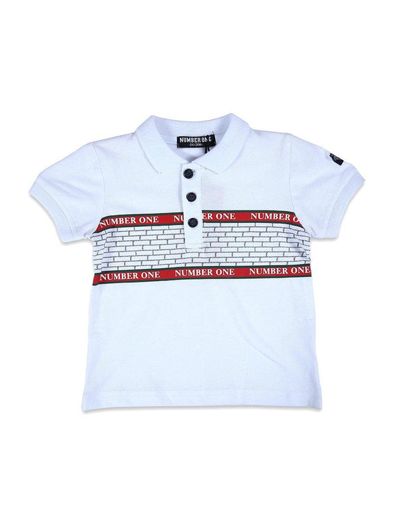 Imp Boys Polo T-Shirts H/S With Number One Pach # 266 (S-19) - enemmall.com
