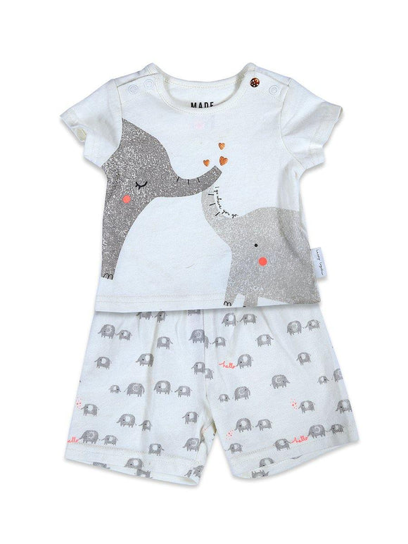 Mother Care Boys S/S Knicker Suit With Elephant Print #19 - enemmall.com