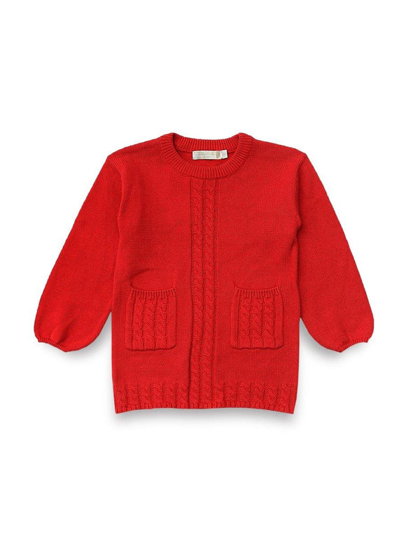 Imp Girls Crew Neck Long Sweater L/S With 2 Pocket #1075 (W-19) - enemmall.com