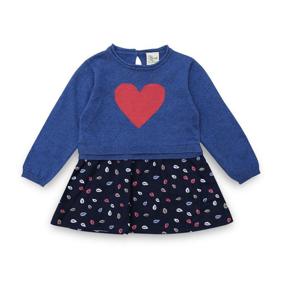 Imp Girls Crew Neck Sweater L/S With Heart Print #84273 (W-19)