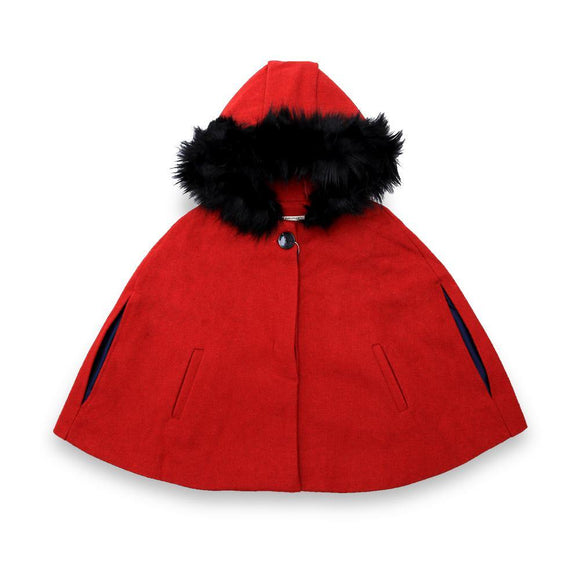 Zara Girls Poncho With Hood Z4 (W-19)