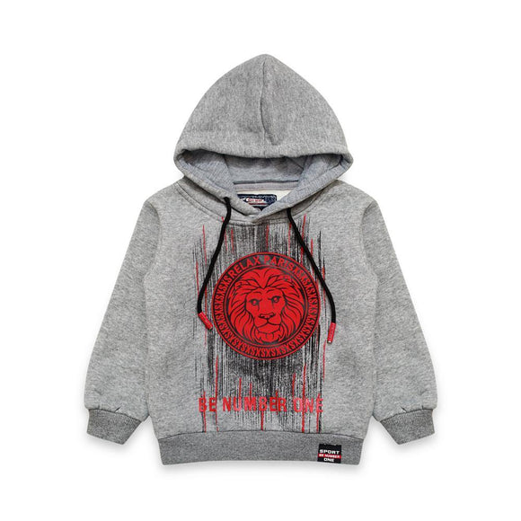 Imp Boys Hoodie L/S With Lion Pach #422S,M(W-19)