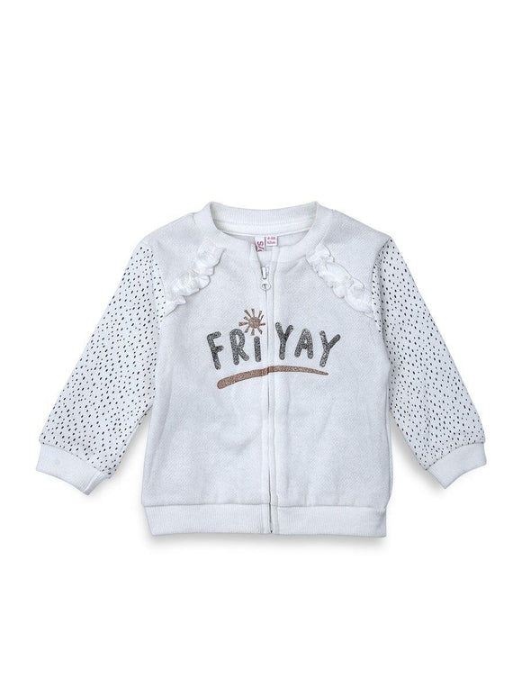 Imp Girls Upper L/S With Zip & Friyal Print Z2 (W-19) - enemmall.com