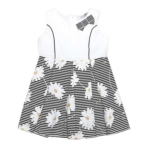 Dr Kids Girls Cotton Frock With Black Lineing DK491 (S-20) - enemmall.com