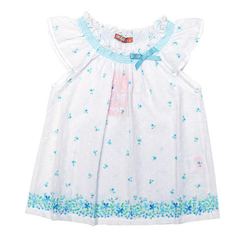 Dr Kids Girls Tunic H/S With Flower Print DK434 (S-20) - enemmall.com