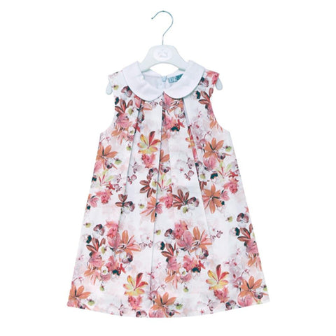 Dr Kids Girls Cotton Frock With Flower Print DK472 (S-20) - enemmall.com
