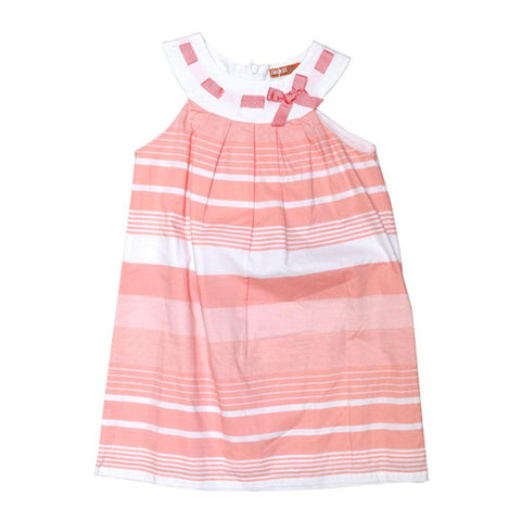 Dr Kids Girls S/S Tunic With Front Bow DK463 (S-20) - enemmall.com