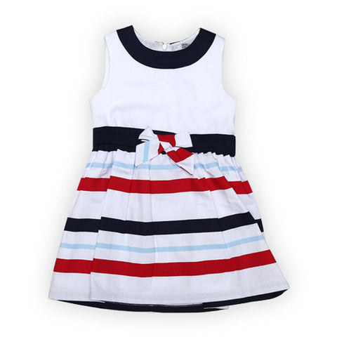 Dr Kids Girls Frock Multi Color Lineing DK400 (S-20) - enemmall.com