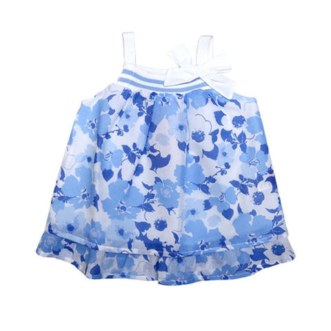 Dr Kids Girls Tunic S/S With Flower Print DK415 (S-20) - enemmall.com