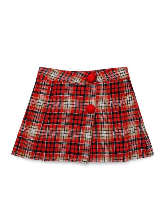 Imp Girls Woolen Skirts With Front 2 Botton #66659 (S-20) - enemmall.com