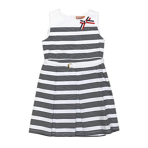 Dr Kids Girls Cotton Frock H/S With Bow DK410 & 411 (S-20) - enemmall.com