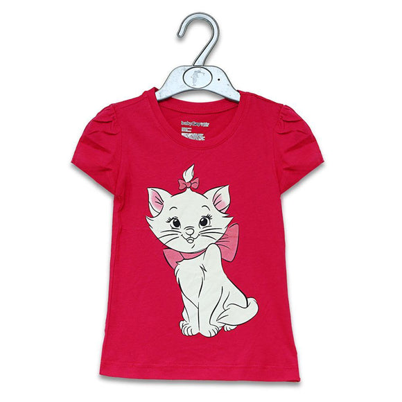 Gap Girls H/S Crew Neck T-Shirt With Cat Print #23