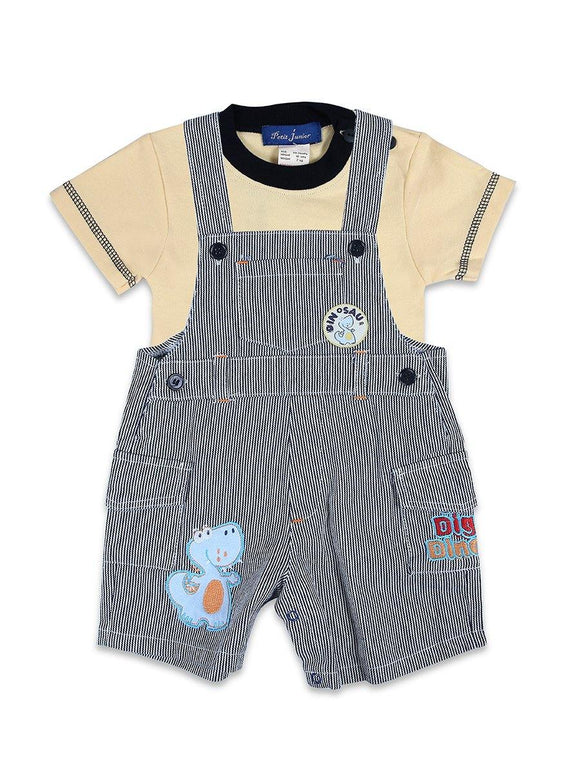 Imp Boys 2pcs Dangree Suit H/S With Dinosaur Emb #BD27 (S-20) - enemmall.com