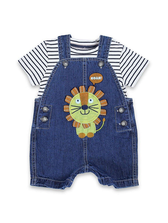Imp Boys 2pcs Dangree Suit H/S With Lion Pach Emb #BD8 (S-20) - enemmall.com